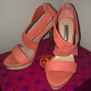 H by Halston Coral Strappy Heel